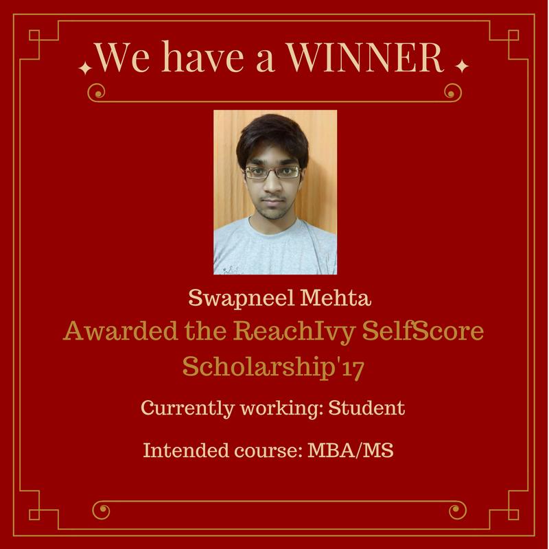 Swapneel M - Scholarship Winner