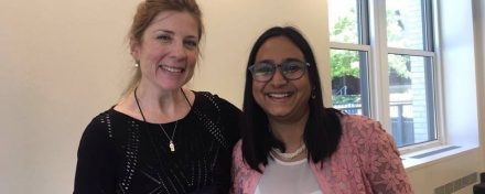 ReachIvy Chief Partnership Officer, Gaargi Desai with Erin Kellerhals, Interim Executive Director, Full-Time MBA Admissions, UC Berkeley at AIGAC 2016