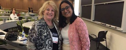 ReachIvy Chief Partnership Officer, Gaargi Desai with Christie St John, Director of Admissions, MBA Program, Vanderbilt University at AIGAC 2016